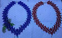 Намисто синього та червоного кольору (Ожерелье синего и красного цвета) AN-0056
