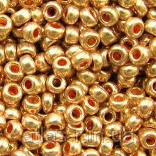 Бисер Preciosa Чехия №18583 1г, золотой металлик