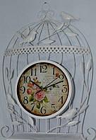 Часы настенные металл клетка птицы 1063-8