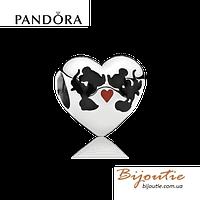Pandora шарм DISNEY Minnie & Mickey Kiss 791443ENMX серебро 925 Пандора оригинал