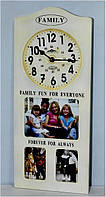 Часы настенные рамка для фотографий 1063-6