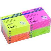 Стикеры BUROMAX 76*76 100л. 2312-98 неон.