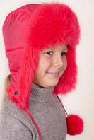 Зимние шапки для девочек натуральный мех