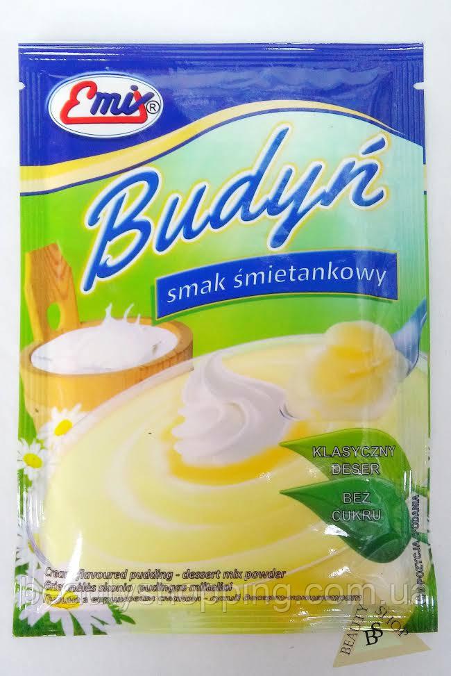 Пудинг сметанный вкус сухой десерт концентрат 41 гр Emix Польша