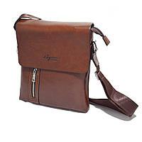 Стильная, презентабельная мужская сумка через плече. Представительная кожаная сумка. Деловая сумка. Код: КБН46