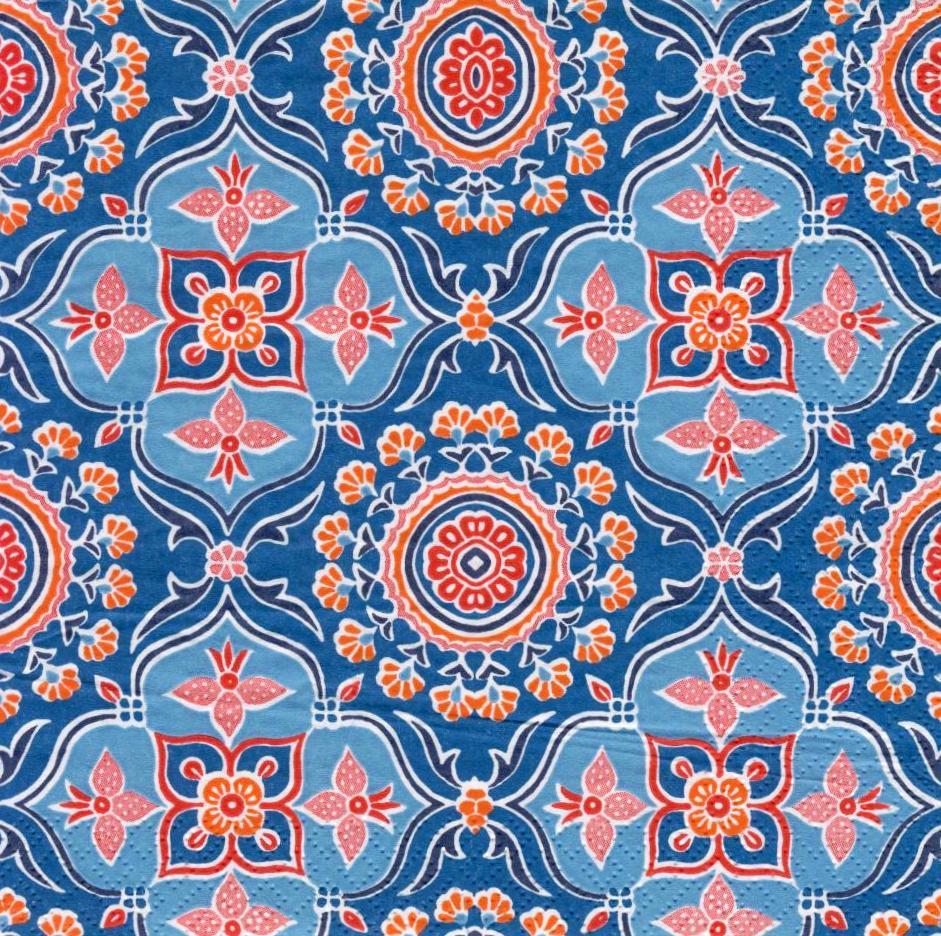 Салфетки декупажные Синий орнамент 1937
