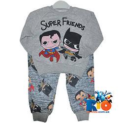 """Детский костюм """"Super Friends"""" , из трикотажа (флис) , для мальчика от 2-5 лет"""