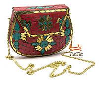 Женская сумочка ручной работы с кораллами