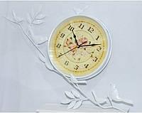 Часы настенные  ветка металл