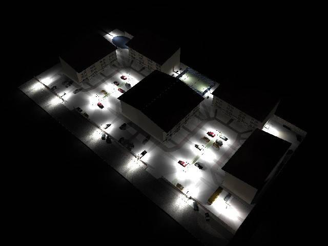 Освещение территории жилого комплекса 71