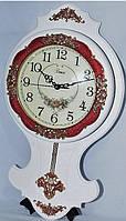 Часы настенные дерево плюс металл с маятником  1037-1
