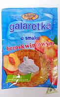 Galaretka Желе персиковый вкус 70 гр Kraw Pak Польша