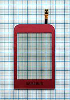 Тачскрин сенсорное стекло для Samsung GT-C3300 Champ pink