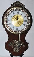 Большие настенные часы дерево и метал 312-2