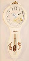 Большие настенные часы дерево с маятником 343-3