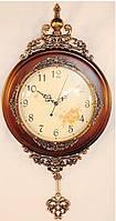 Большие настенные часы дерево с маятником 334-3