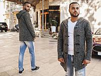 """Мужское стильное твидовое пальто-куртка М-09 """"Дафл Коат Меланж"""""""