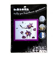 Набор для вышивания крестиком часы Цветочный аромат 38х35 см