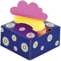Стикеры BUROMAX 76*76 200л. Цветок 2322-97 ассорти