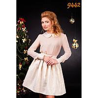 Костюм праздничный: шифоновая блуза и пышная юбка из парчи-9442