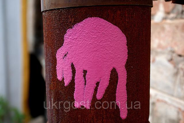 розовая краска в баллончике, аэрозоле для метала, пластика, дерева, керамики