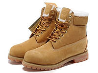 Ботинки Classic Timberland 6 inch Yellow Winter Fur High Quality