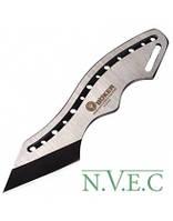 Тактический нож BOKER в ножнах (сталь 440сс, полная длина 15см), серебристый с черным