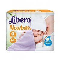 Подгузники детские Libero Newborn (0-2.5 кг), 24 шт.