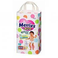 Подгузники-трусики Merries XL 1 шт
