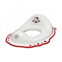 Сиденье для унитаза с резинками Hello Kitty белое Maltex