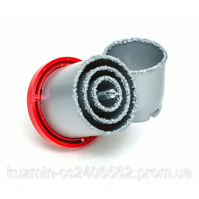 Набор корончатых сверл для плитки 5 ед. 33-73 мм вольфрамовое напыление INTERTOOL SD-0429