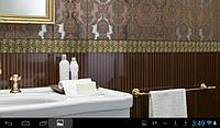 Декоративная бронзовая вставка для настенной плитки