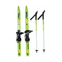 Детские лыжи Snow Fling 90 см, Green Stiga
