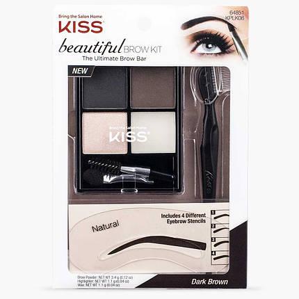 Набор для бровей KISS Beautiful Brow Kit, фото 2