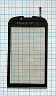 Тачскрин сенсорное стекло для Samsung GT-B7620 Giorgio Armani mirror grey