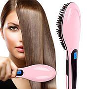 Расческа для выпрямления волос Fast Hair Straightener, электрический выпрямитель в виде расчески straightener, фото 1