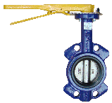Регульована поворотна засувка Батерфляй з нержавіючим диском(EPDM) ДУ 200, фото 4