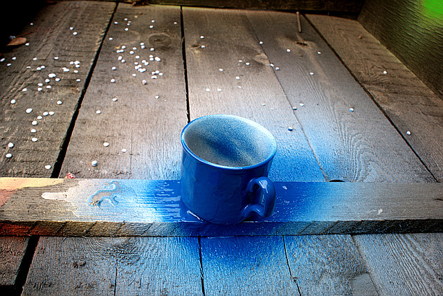 синяя стандартная  краска в баллончике, аэрозоле для метала, пластика, дерева, керамики