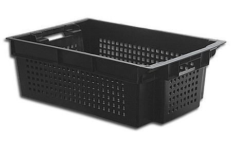 Ящик пластиковый перфорированный со сплошным дном, фото 2