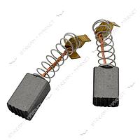 Угольные щетки ЩЭ 5х8х12 пружинные, контакт пятак П-образный (№54)