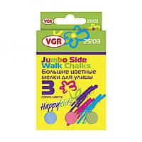 Набор цветных мелков для рисовани на асфальте, (3 шт) VGR