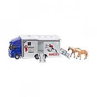 Грузовик для перевозки лошадей Siku