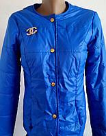 Куртка женская Шанель синяя р 42-46