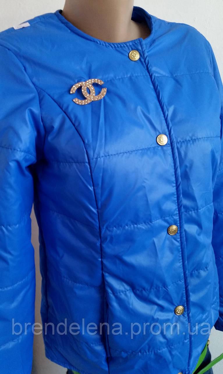 Куртка женская Шанель синяя р 42, 44