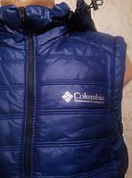 Жилетка мужская на синтепоне columbia синяя