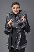 Куртка женская на пуговицах мех песец