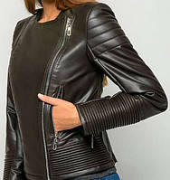 Женская  короткая  куртка  косуха эко кожа на молнии