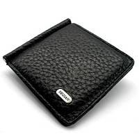 Зажим для купюр кожаный черный Desisan 208-011 Турция, фото 1