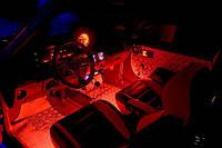 Подсветка салона автомобиля—4х15 Красная!