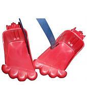 Подножка BELLELLI Piedino Rabbit Rosso к переднему сидению, пластик, красная